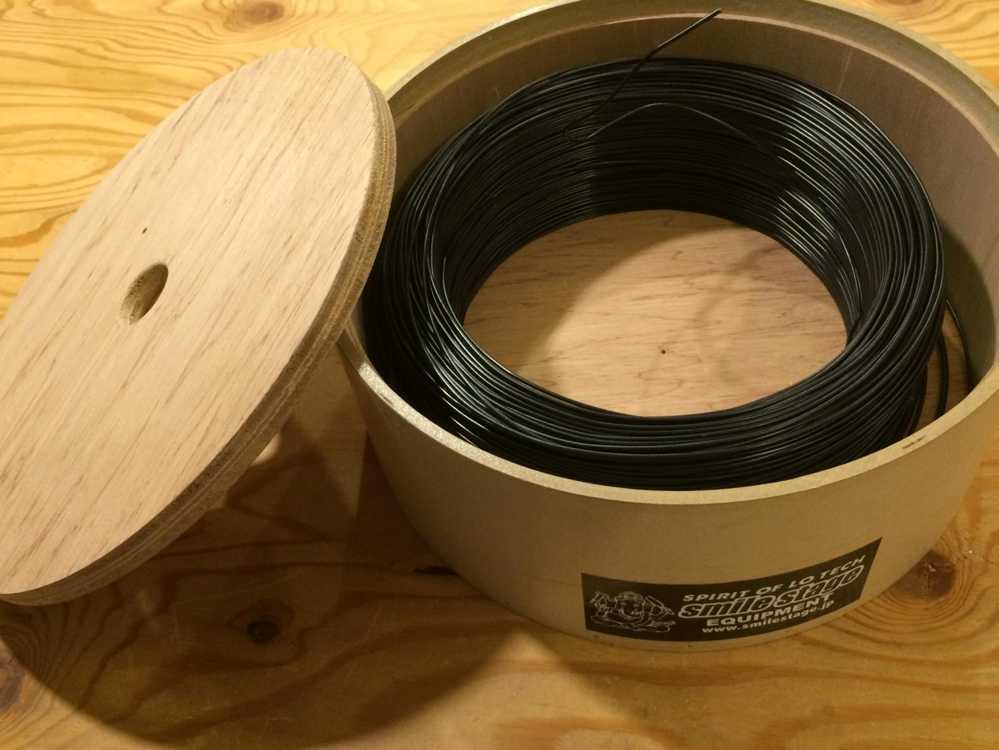 三重電線工業株式会社 ビニールバインド線 0.9mm 黒 長さ300m