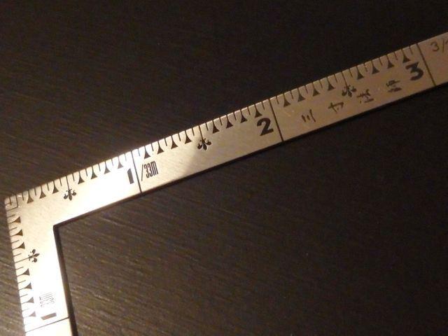 シンワ測定 曲尺小型三寸法師ステン3×1.5寸 表裏同目