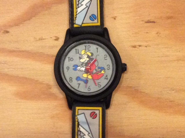 The DISNEY Store Mickey Mouse Watch CARPENTER TOOLS  LADIES