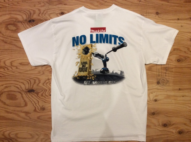 "MAKITA T SHIRT ""NO LIMITS"" Size XL"