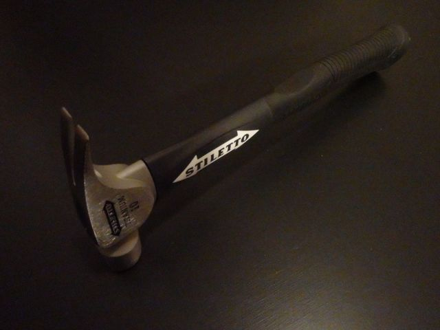 Stiletto FH10CF 10 oz. Titanium Smooth/Curved Poly-Fiberglass Framing Hammer