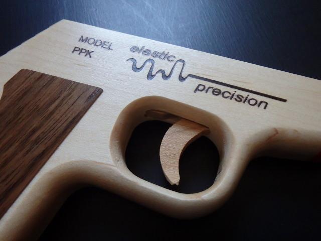 ELASTIC PRECISION MODEL PPK RUBBER BAND GUN