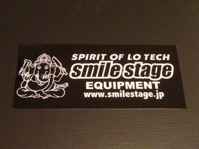 SMILE STAGE LOGO STICKER