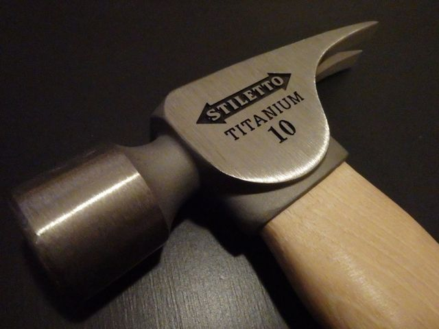 Stiletto Tools 14-OunceTitanium Framing Hammer With Curved Handle