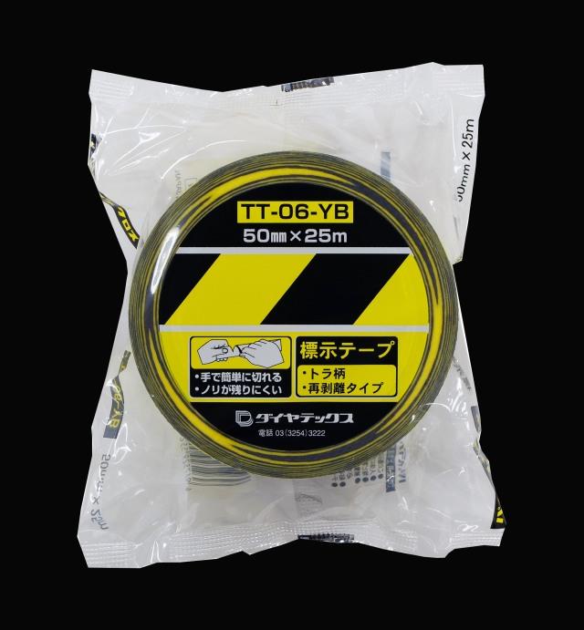 ダイヤテックス 表示テープ ストライプ (トラテープ)50mm×25m