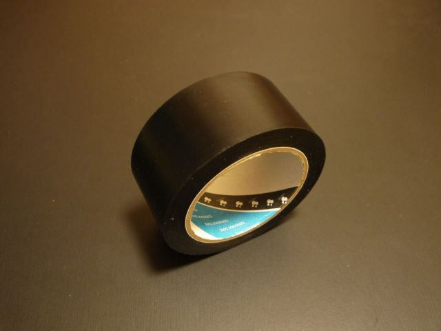 テラオカ ビニルテープ No.312 黒消しクリア