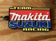Team Makita Suzuki Racing Black Key Chain