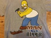 "THE SINMPSONS""MAN VS HAMMER""T SHIRT  / M / USED"