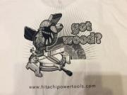 "HITACHI POWER TOOLS LOGO T SHIRT ""GOT WOOD""/ XL / USED"