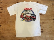 """SNAP ON TOOLS  """"RACING"""" T SHIRT / L / USED"""