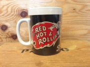 "SNAP ON TOOLS ""RED HOT & ROLLIN ""VINTAGE PLASTIC MUG CUP /USED"