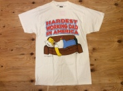 """THE SIMPSONS """"HARDEST WORKING DAD IN AMERICA"""" T SHIRT"""