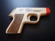 ELASTIC PRECISION MODEL PPK RUBBER BAND GUN