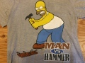 "THE SINMPSONS""MAN VS HAMMER""T SHIRT  / M / USED"