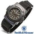 [正規品] スミス&ウェッソン Smith & Wesson ミリタリー腕時計 LAWMAN WATCH BLACK SWW-11B-GLOW