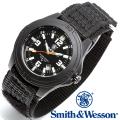 [正規品] スミス&ウェッソン Smith & Wesson ミリタリー腕時計 SOLDIER WATCH NYLON STRAP BLACK SWW-12T-N
