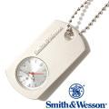 [正規品] スミス&ウェッソン Smith & Wesson ミリタリー 時計 DOG TAG WATCH BLACK SWW-1564-SLV