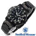 [正規品] スミス&ウェッソン Smith & Wesson スイス トリチウム ミリタリー腕時計 SWISS TRITIUM 357 SERIES COMMANDER WATCH BLACK SWW-357-BSS