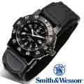 [正規品] スミス&ウェッソン Smith & Wesson スイス トリチウム ミリタリー腕時計 SWISS TRITIUM 357 SERIES TACTICAL WATCH NYLON BLACK SWW-357-N