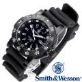 [正規品] スミス&ウェッソン Smith & Wesson スイス トリチウム ミリタリー腕時計 SWISS TRITIUM 357 SERIES DIVER WATCH RUBBER BLACK SWW-357-R