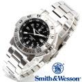 [正規品] スミス&ウェッソン Smith & Wesson スイス トリチウム ミリタリー腕時計 SWISS TRITIUM 357 SERIES AVIATOR WATCH SILVER SWW-357-SS