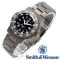 [正規品] スミス&ウェッソン Smith & Wesson スイス トリチウム ミリタリー腕時計 SWISS TRITIUM 357 SERIES EXECUTIVE WATCH TITANIUM SILVER/BLACK SWW-357-T-BLK