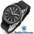 [正規品] スミス&ウェッソン Smith & Wesson ミリタリー腕時計 CADET WATCH BLACK/GREEN SWW-369-GR