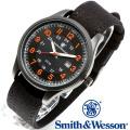 [正規品] スミス&ウェッソン Smith & Wesson ミリタリー腕時計 CADET WATCH BLACK/ORANGE SWW-369-OR