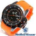 [正規品] スミス&ウェッソン Smith & Wesson ミリタリー腕時計 TROOPER WATCH ORANGE/BLACK SWW-397-OR