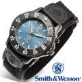 [正規品] スミス&ウェッソン Smith & Wesson ミリタリー腕時計 455 POLICE WATCH BLUE/BLACK SWW-455P