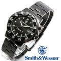 [正規品] スミス&ウェッソン Smith & Wesson ミリタリー腕時計 SWAT WATCH BLACK SWW-45M