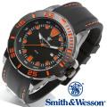 [正規品] スミス&ウェッソン Smith & Wesson ミリタリー腕時計 SCOUT WATCH ORANGE/BLACK SWW-582-OR