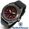 [正規品] スミス&ウェッソン Smith & Wesson ミリタリー腕時計 KNIVES WATCH BLACK/RED SWW-693-BK