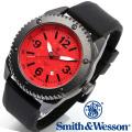 [正規品] スミス&ウェッソン Smith & Wesson ミリタリー腕時計 KNIVES WATCH RED/BLACK SWW-693-RD