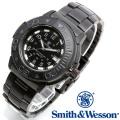 [正規品] スミス&ウェッソン Smith & Wesson スイス トリチウム ミリタリー腕時計 SWISS TRITIUM DIVER WATCH BLACK/BLACK SWW-900-BLK