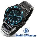 正規品] スミス&ウェッソン Smith & Wesson スイス トリチウム ミリタリー腕時計 SWISS TRITIUM DIVER WATCH BLACK/BLUE SWW-900-BLU