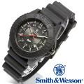 [正規品] スミス&ウェッソン Smith & Wesson スイス トリチウム ミリタリー腕時計 SWISS TRITIUM M&P WATCH BLACK/BLACK SWW-MP18-BLK