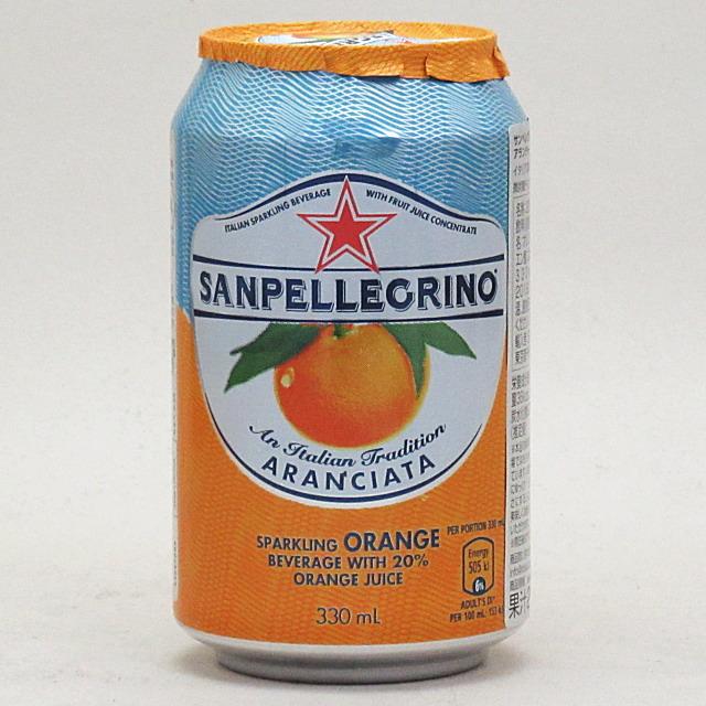 サンペレグリノ スパークリング フルーツベバレッジ アランチャータ(オレンジ) 330ml×24個