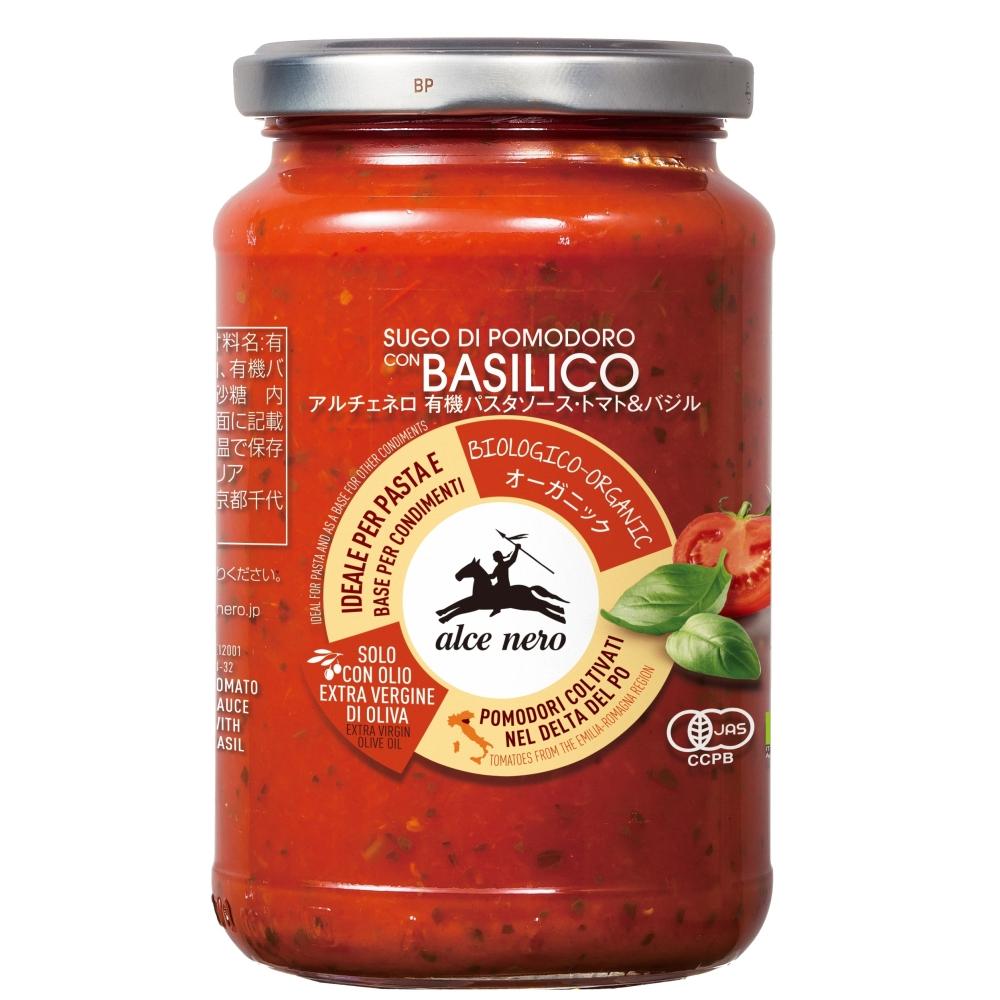 アルチェネロ 有機パスタソース トマト&バジル 350g×12個