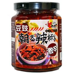 老騾子 朝天 豆鼓辣椒醤(豆鼓入り辛味調味料) 105g×12個