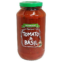 カリフォルニアギフト パスタソース トマト&バジル 708g×12個