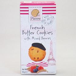ピエールビスキュイットリー バタークッキー ミックスベリー 55g×12個