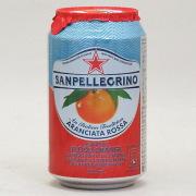 サンペレグリノ スパークリング フルーツベバレッジ アランチャータロッサ(ブラッドオレンジ) 330ml×24個