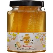 スイートハーベスト オレンジはちみつ巣入り 250g×12個