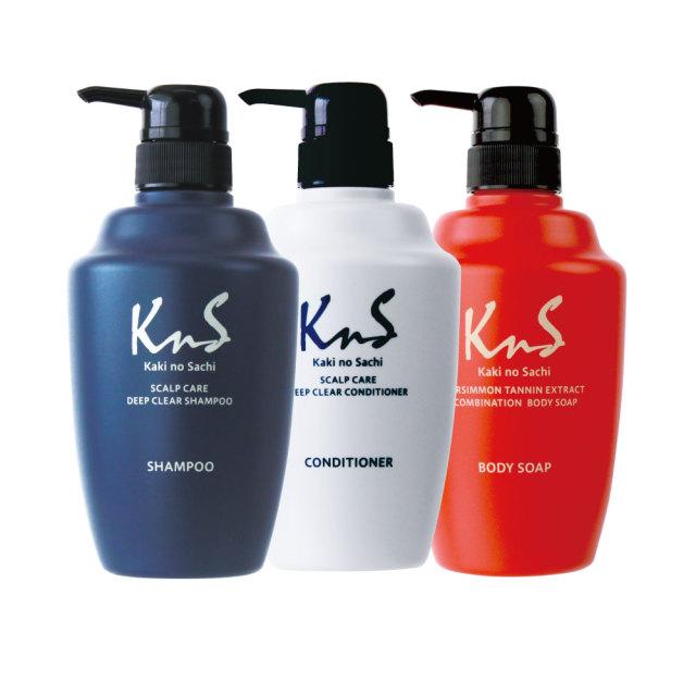 【 KnS 】柿のさち オールセットB(KnSスカルプシャンプー+KnSコンディショナー+KnS柿渋ボディソープ)