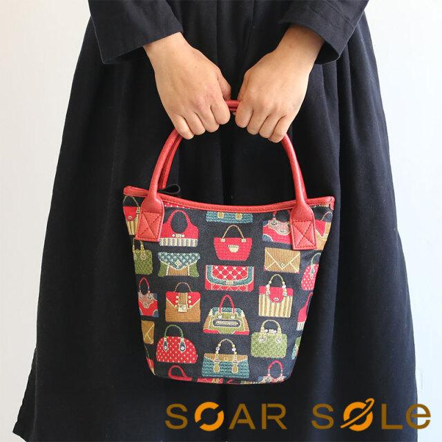 【送料無料】SOAR SOLe/ソアソウル レディース ビジュー デコレーション バケツ型 バッグ ジャカード ゴブラン Jewel[ジュエル]4433【無料ラッピング】