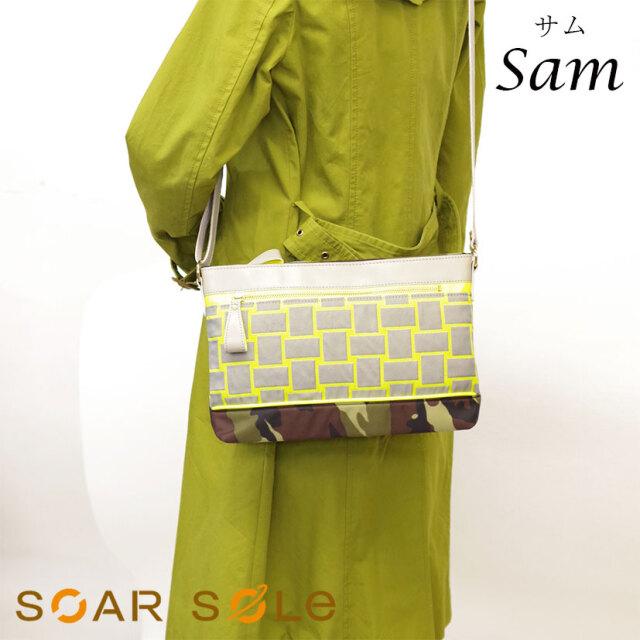 SOAR SOLe/ソアソウル レディース ネオン カモフラージュ ショルダー バッグ ジャカード ゴブラン Sam[サム]5820【無料ラッピング】