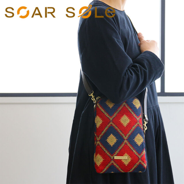 【メール便無料】SOAR SOLe/ソアソウル レディース ポシェット ショルダー ポーチ バッグ ジャカード ゴブラン VISTA [ビスタ] 9661【無料ラッピング】