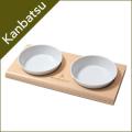 kanbatsu カンバツ TWOMEAL Double dish トゥーミール