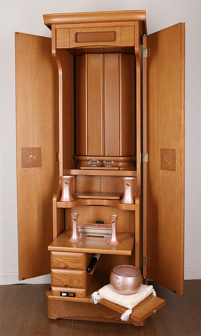家具調仏壇プルヴェーブなら天然木電動厨子